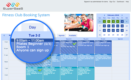 Fitness booking system