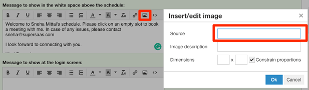 add images to your SuperSaaS appointment booking schedule