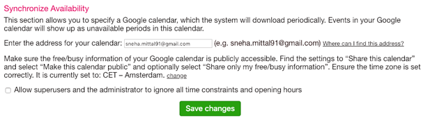 change language on your SuperSaaS appointment booking schedule
