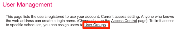 Add user groups on your SuperSaaS appointment booking system