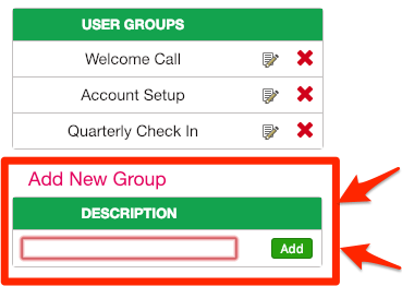 Create new user group on your SuperSaaS appointment booking system