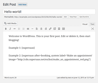 Entering multiple Booking Buttons in a WordPress post