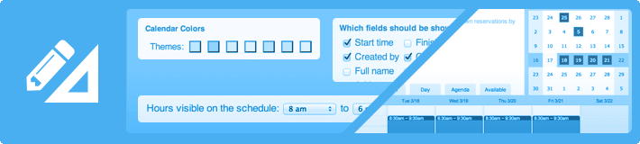 booking scheduler layout options